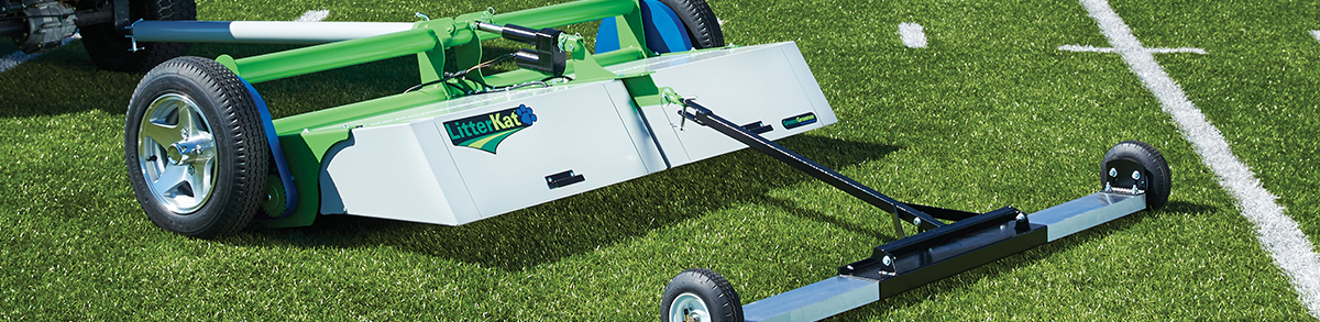 Litterkat Synthetic Turf Sweeper By Greensgroomer Ground
